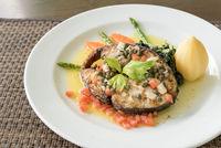 Fried mackerel Steak