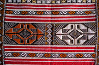 carpets in the market, photo as background