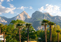 Park and mountains in Kemer