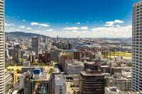 Aerial view industrial Kobe