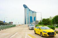 Taxi cabs, Marina Bay, Singapore