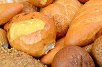 Several different kinds of bread
