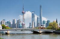 shanghai scenery on suzhou river