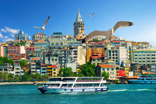 Galata Tower and boats
