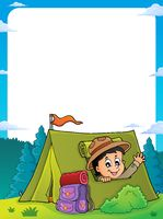 Scout in tent theme frame 1