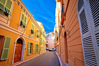 Narrow colorful street of Monaco old town
