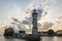 light house in Lindau at Lake Constance, Germany