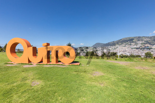 Itchimbia park panoramic view of Quito