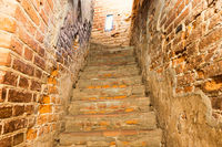 Brick staircase with stairs