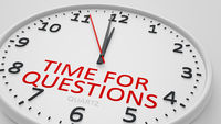 time for questions modern bright clock style