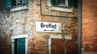 Street Sign to Brothel