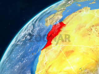 Morocco on Earth with borders