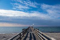 Seebrücke an der Ostseeküste in Rerik