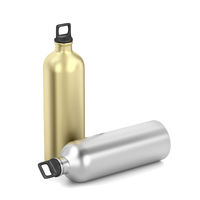 Silver and gold water bottles