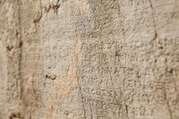 Old Writing at The Historical Site of Delphi, Greece.