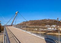 Footbridge over Altmuehl river in Kelheim