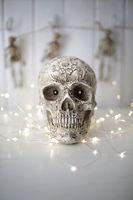 Scary skull with lights