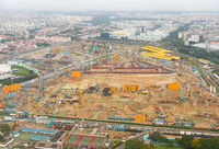 construction industrial site Singapore aerial