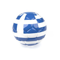 Soccer ball with the flag of Greece