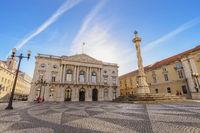 Lisbon Portugal, city skyline at Lisbon Municipal Square
