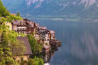 Hallstatt Austria, Nature landscape of Hallstatt village with lake and mountain