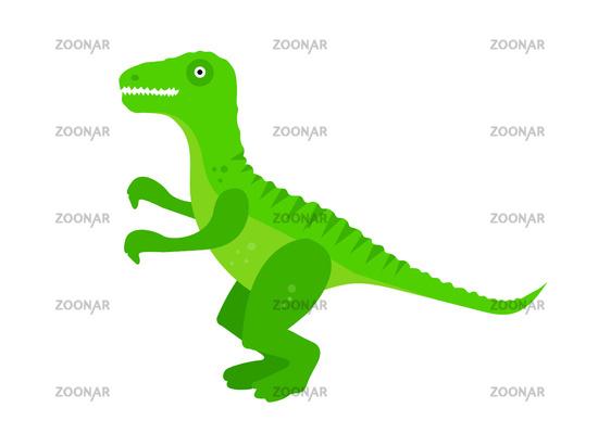 Tyrannosaurus flat style icon. Isolated on white background. Vector illustration