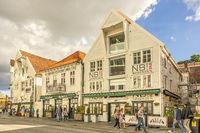 Wooden Buildings In Stavanger Norway