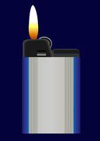 Burning pocket lighter