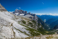Hiking around the Tre Cime di Lavaredo in the Dolomites of Northern Italy