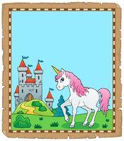 Fairy tale unicorn topic parchment 1