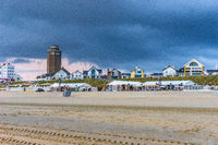 Dramatic sky at the Dutch seaside