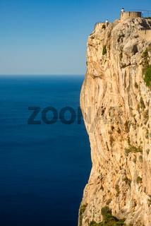 Dramatic Sea Cliffs and Azure Mediterranean Sea on the Formentor Peninsula on the Island of Mallorca