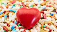 Herz auf Medikamenten als Gesundheit Konzept