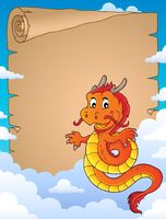 Chinese dragon topic parchment 3