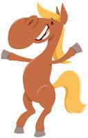 funny horse cartoon farm animal character