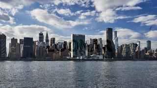 New York Skyline mit UNO Hauptquartier