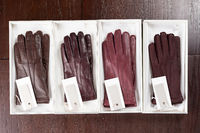 Set of leather gloves