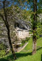Predjama castle built into a cave in Slovenia