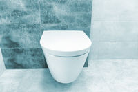 Close up of toilet bathroom interior
