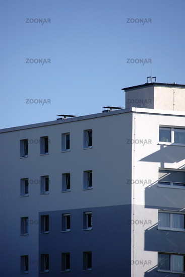 Shadow on the residential building