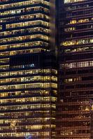 window facade office building night