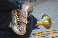 Street musician in Prague