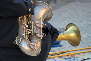 Strassenmusiker in Prag