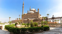 Alabaster Mosque in Cairo, beautiful yard view