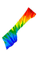 Gaza Strip - map is designed rainbow abstract colorful pattern, Gaza Strip map made of color explosion,