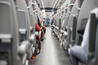 Seats in modern train