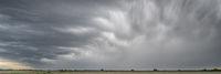 heavy storm clouds and rain over Nebraska
