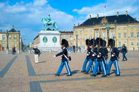 Marching Danish Royal Guard