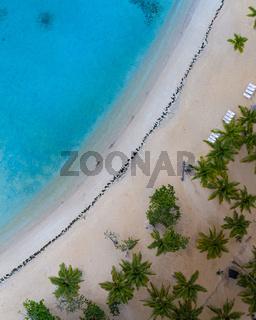 Aerial view of coastline Dominican republic