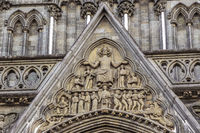 Part Of Facade of Nidaros Cathedral Trondheim Norway